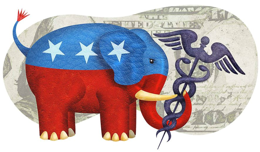 GOP and Healthcare Illustration by Greg Groesch/The Washington Times