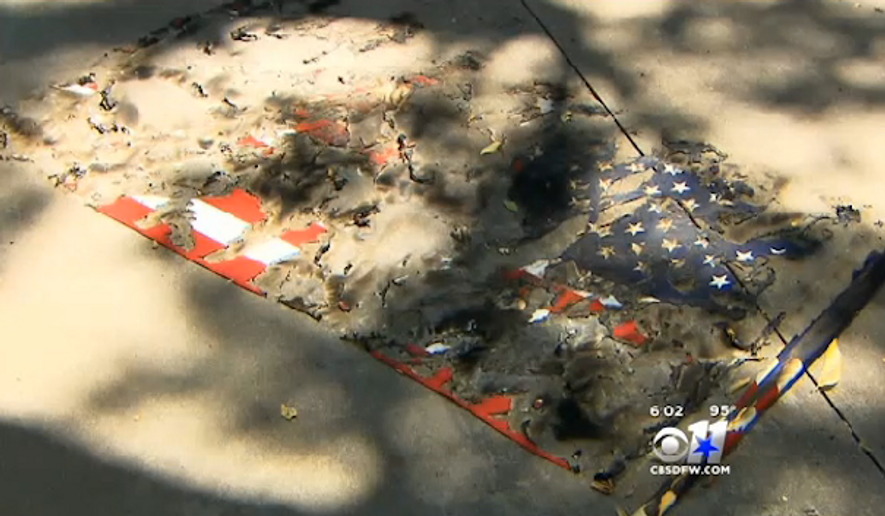 A least seven American flags have been burned throughout the Texas city of Weatherford, and authorities think the vandals responsible are trying to send a message. (CBS 11 News)