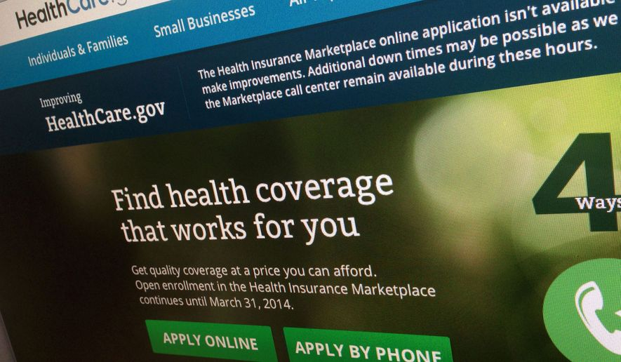 FILE - This Nov. 29, 2013, file photo shows a part of the HealthCare.gov website, photographed in Washington. The administration is warning hundreds of thousands of consumers they risk losing taxpayer-subsidized health insurance unless they act quickly to resolve issues about their citizenship and immigration status. (AP Photo/Jon Elswick, File) **FILE**