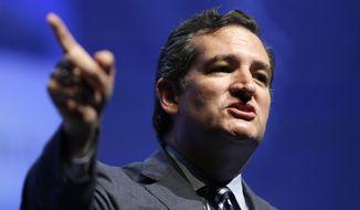 Sen. Ted Cruz, Texas Republican (Associated Press) **FILE**