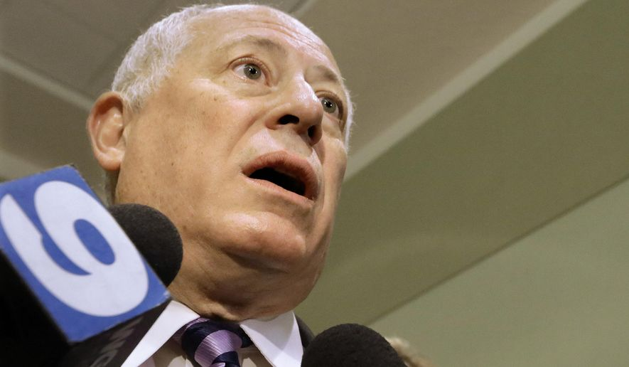 Illinois Gov. Pat Quinn speaks to reporters at the Illinois Democratic County Chairmen's Association's annual state fair Governor's Day brunch on Wednesday, Aug. 13, 2014, in Springfield, Ill.  (AP Photo/Seth Perlman)