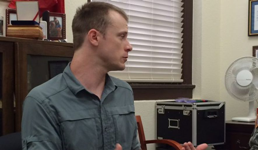 "Sgt. Bowe Bergdahl a ""premeditated"" deserter who possibly aided the Taliban, say six former platoon mates who have hit roadblocks with their book. (Eugene R. Fidell via Associated Press)"