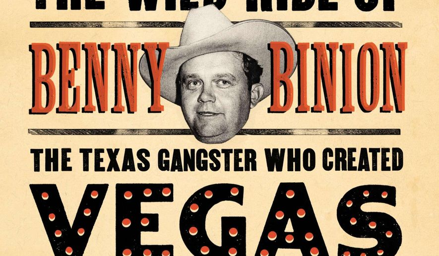 """This book cover image released by Viking shows """"Blood Aces: The Wild Ride of Benny Binion, the Texas Gangster Who Created Vegas Poker,"""" by Doug J. Swanson. (AP Photo/Viking)"""