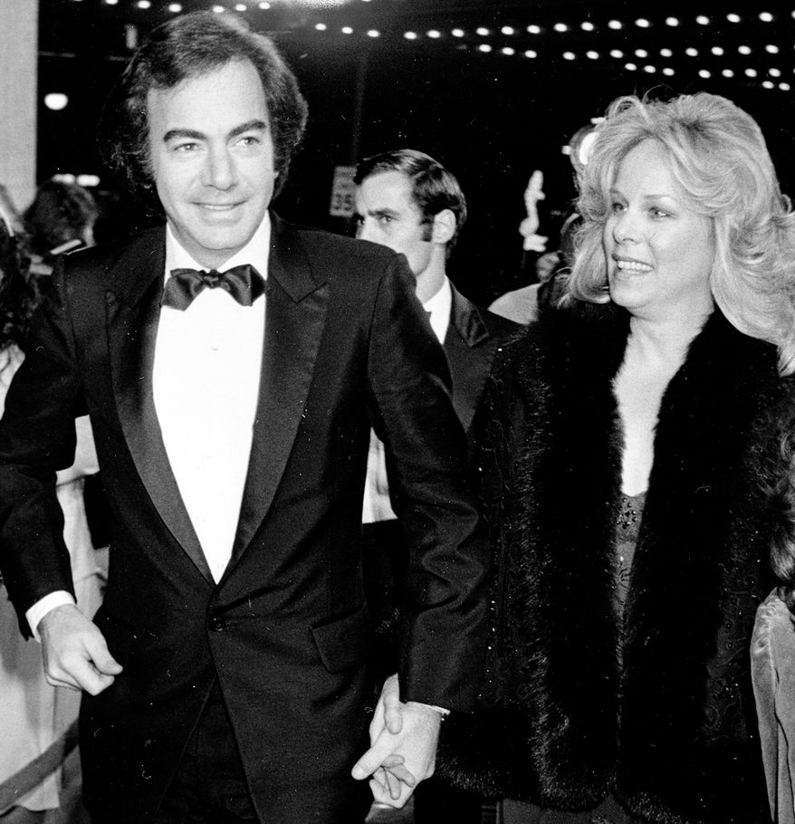 """3. Neil Diamond married Marcia Murphey in 1969 but the couple split after 25 years. Murphy was left with half his fortune, an estimated $150 million.Singer Neil Diamond arrives with his wife, Marcia, and daughter, Elyn, at the premiere of """"The Jazz Singer,"""" in Century City, Ca., in 1980.  Diamond makes his acting debut in the remake of the original 1927 movie.  (AP Photo/Harms)"""