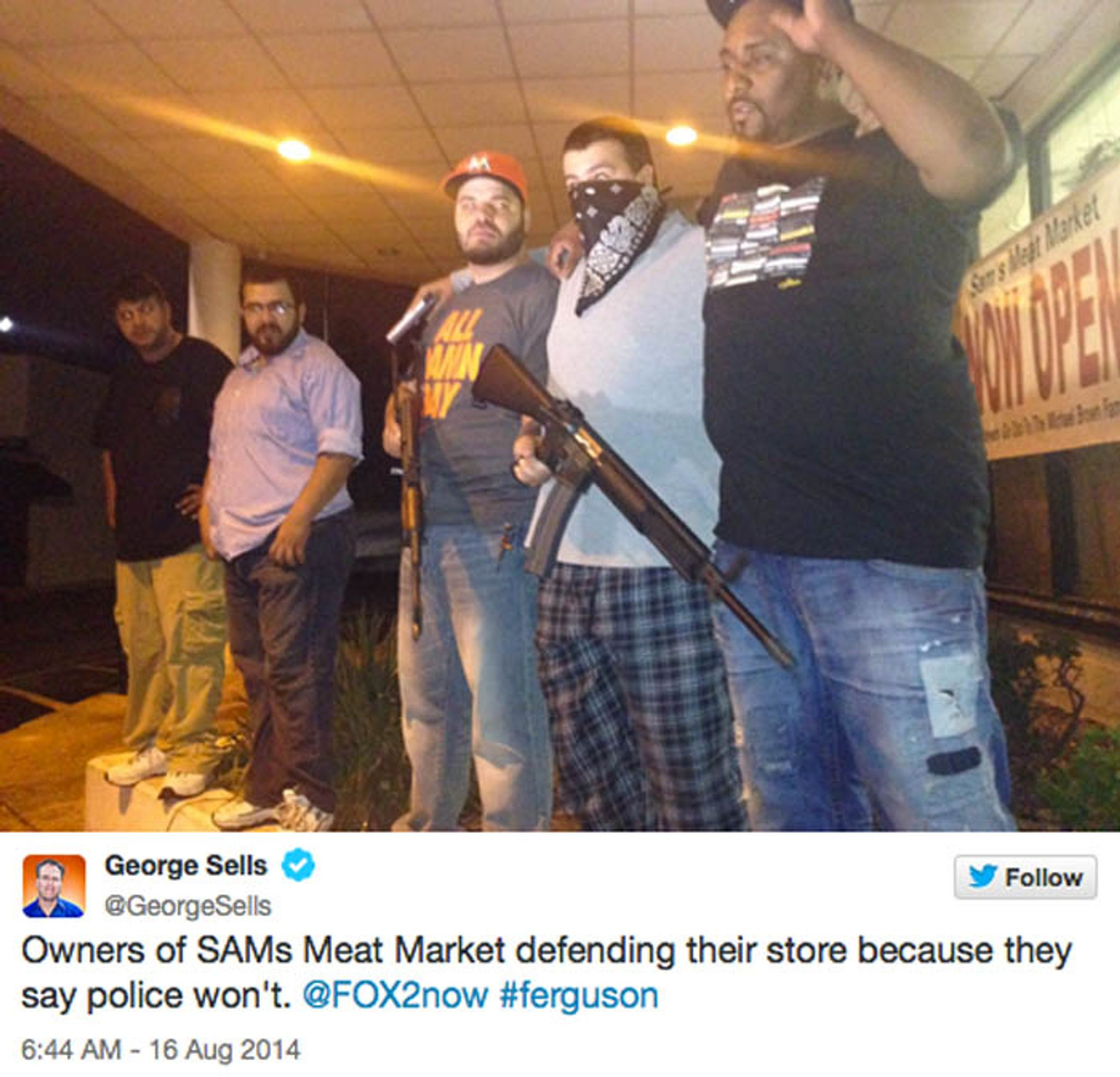 Ferguson store owners rely on their guns to fend off second looting ...