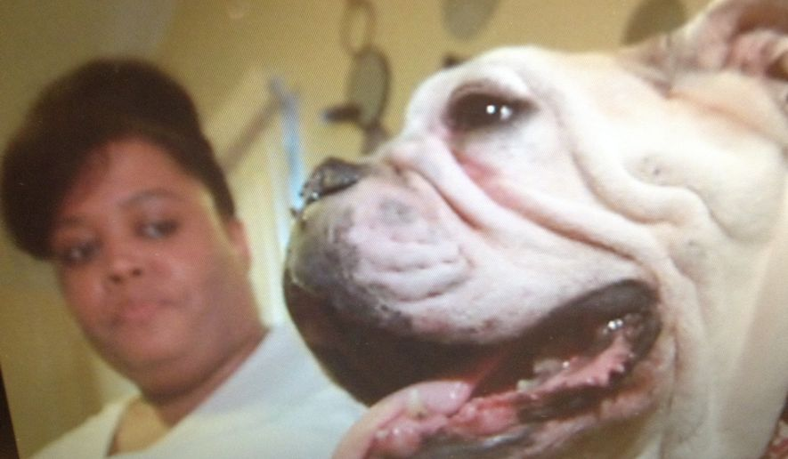 Lashena Harris is elated after her dog was found eight years after it was stolen from her Memphis backyard. (KSAZ Fox 10)