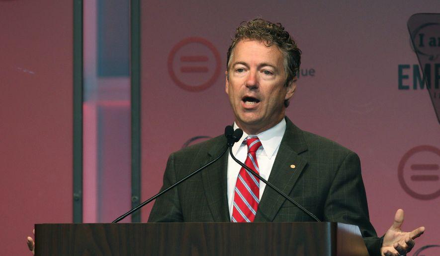 Sen. Rand Paul, Kentucky Republican. (Associated Press) ** FILE **