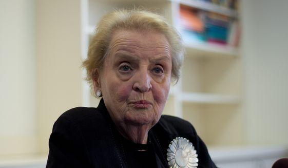 Former Secretary of State Madeleine K. Albright (Associated Press) **FILE**