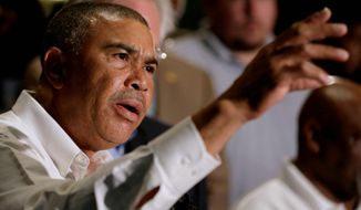 Rep. William Lacy Clay, a Democrat whose district includes Ferguson, Missouri, says the federal government needs to provide training with weapons. (Associated Press) ** FILE **