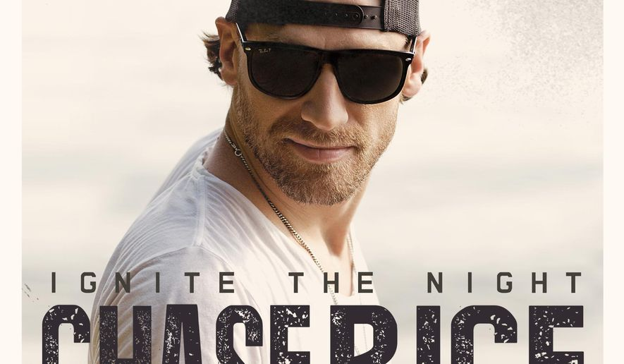 "This CD cover image released by Columbia Nashville/Dack Janiels Records shows ""Ignite the Night,"" by Chase Rice. (AP Photo/Columbia Nashville/Dack Janiels Records)"