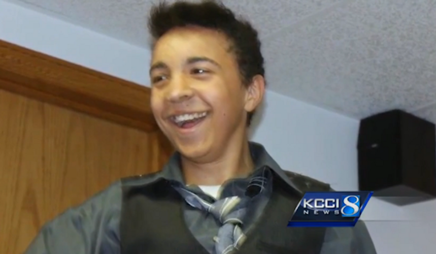 The eye donation from 16-year-old Alexander Betts Jr. was reportedly rejected because he was gay. (KCCI 8)