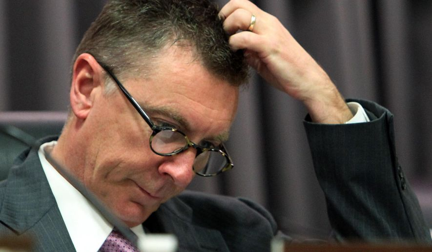 FILE - This March 13, 2012 file photo shows Superintendent John Deasy before the start of a public hearing at the headquarters of the Los Angeles Unified School District in downtown Los Angeles. Students in Los Angeles caught misbehaving will be sent to the principal's office rather than the courthouse, part of a sweeping reforms to the discipline policy announced Tuesday, Aug. 19, 2014, at the nation's second largest school district. Deasy says police officers won't arrest or cite students for low-level offenses but will instead refer them to administrators or counselors. (AP Photo/Reed Saxon, File)