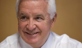 Pennsylvania Gov. Tom Corbett speaks during an interview with The Associated Press Wednesday, Aug. 20, 2014, in Philadelphia. (AP Photo/Matt Rourke)