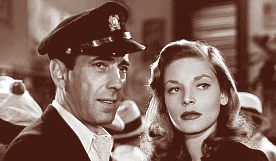 "Bogart and Bacall in ""To Have and Have Not."""