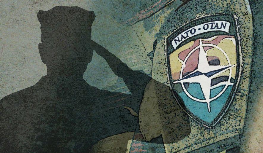 NATO Alliance Illustration by Greg Groesch/The Washington Times