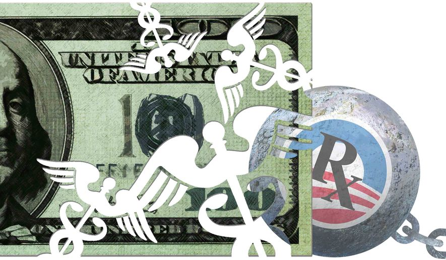 Third-party Money Eater Illustration by Greg Groesch/The Washington Times