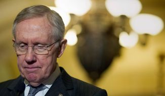 Senate Majority Leader Harry Reid, Nevada Democrat (Associated Press) **FILE**