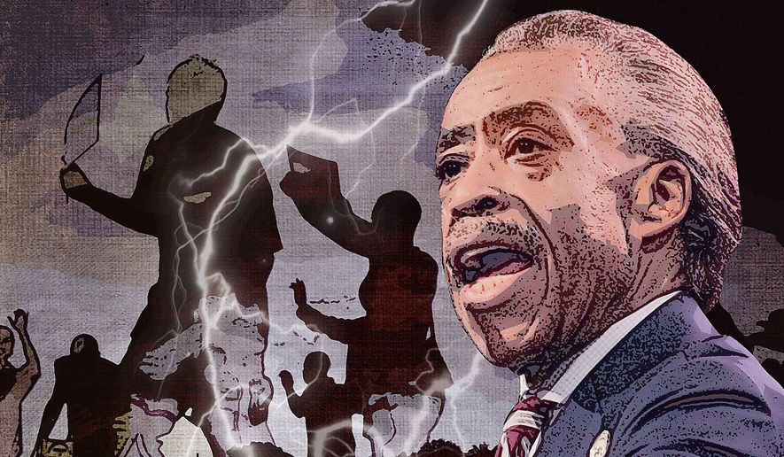 Sharpton in Ferguson Illustration by Greg Groesch/The Washington Times