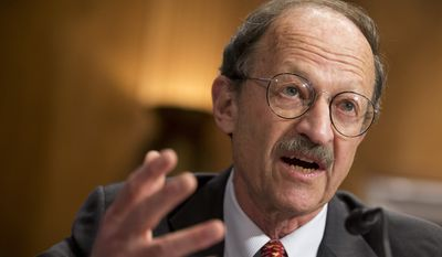 National Institutes of Health's National Cancer Institute Director Harold Varmus testifying in May at a Senate hearing in Washington on the fight against cancer. (AP Photo/Manuel Balce Ceneta)