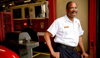 Washington, D.C. Interim Fire Chief Eugene Jones at Engine 11 in Colombia Heights, Washington, D.C., Friday, August 22, 2014. (Andrew Harnik/The Washington Times)