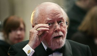 Acclaimed actor and Oscar-winning director Richard Attenborough, whose film career spanned 60 years, died on Sunday. He was 90. (AP Photo/Lefteris Pitarakis, File)