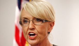Lame-duck Arizona Republican Gov. Jan Brewer isn't staying on the sidelines this election season throwing her support behind moderate GOP candidates. (Associated Press)