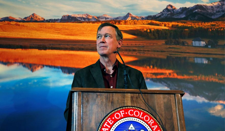 "Colorado Gov. John Hickenlooper, who previously stated he was in favor of the death penalty, has been heard on an audiotape telling CNN journalists that he would consider granting ""full clemency"" to death row inmate Nathan Dunlap, who was convicted of multiple murders. (Associated Press)"