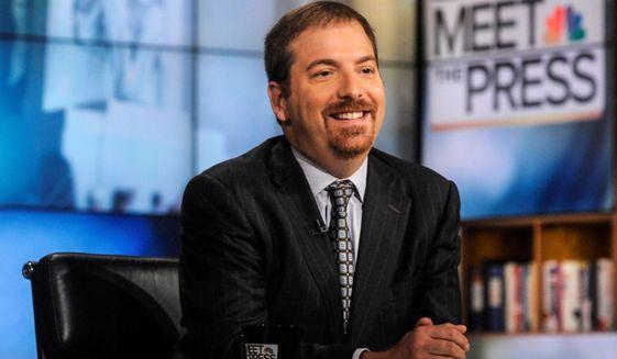 """""""Meet the Press"""" moderator Chuck Todd. (Associated Press)"""