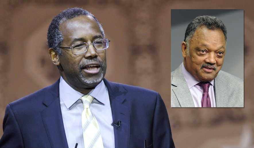 Photo illustration with Dr. Ben Carson and Rev. Jesse Jackson.