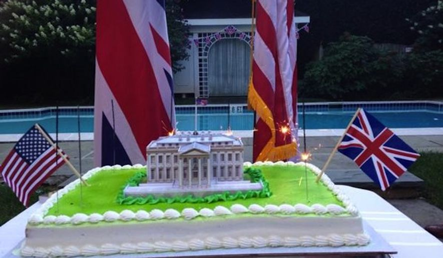 The British Embassy in Washington, D.C., issued an apology Sunday after receiving a wave of backlash for tweets that celebrated the 1814 burning of the White House. (Twitter/@UKinUSA)