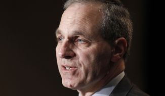 FILE - In this Nov. 21, 2011 file photo, former FBI director Louis Freeh, speaks during a news conference in Philadelphia. Freeh was airlifted to a hospital Monday, Aug. 25, 2014, after a single-car crash in Vermont, authorities said. State police said Freeh was taken by helicopter to a New Hampshire hospital with serious injuries following the crash in Barnard, a small town about 90 miles northwest of Boston. (AP Photo/Alex Brandon, File)