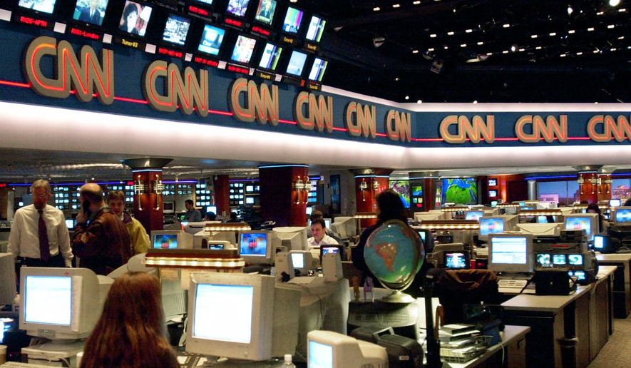 CNN newsroom at the CNN Center in  Atlanta. (AP Photo/Ric Feld)