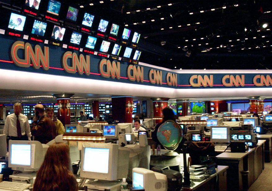 CNN newsroom at the CNN Center in  Atlanta. (AP Photo/Ric Feld)