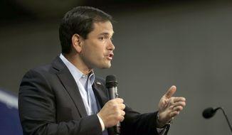 Sen. Marco Rubio, Florida Republican. (AP Photo/Chuck Burton)