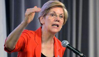 Sen. Elizabeth Warren, Massachusetts Democrat, has disavowed any intention to make a 2016 White House bid, but backers hope she will reconsider. (Associated Press)
