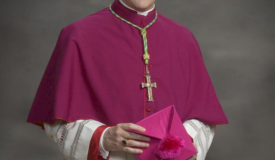 This undated photo provided by the Archdiocese of Philadelphia shows auxiliary bishop Daniel E. Thomas. On Tuesday, Aug. 26, 2014, Pope Francis appointed Thomas to lead the Catholic Diocese of Toledo as its new Bishop. He replaces Bishop Leonard Paul Blair who was named bishop of the Hartford Archdiocese in Connecticut last October. (AP Photo/Archdiocese of Philadelphia)