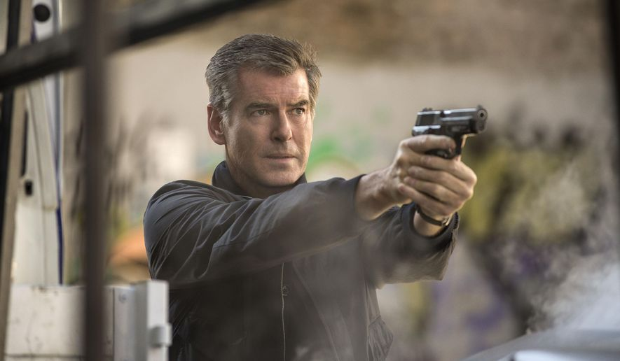 "This image released by Relativity Media shows Pierce Brosnan in a scene from ""The November Man."" (AP Photo/Relativity Media, Aleksandar Letic)"