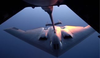Three B-2 bombers completed a tour of duty in Guam this week, as tensions remained high between the U.S. and China. (Department of Defense via Associated Press)