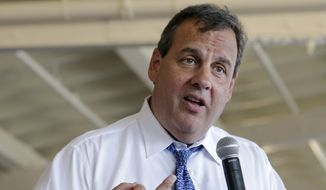 ADVANCE FOR SATURDAY, AUG. 30, AND THEREAFTER - FILE - This Aug. 14, 2014, file photo shows New Jersey Gov. Chris Christie as he speaks during a town hall meeting in Ocean City, N.J.  One set of elections ends in early November as another begins when presidential hopefuls cross the unofficial starting line in the 2016 race for the White House. With control of the Senate at stake, the months leading up to the mid-term elections offer a clearer window on a crowd of potential presidential candidates already jockeying for position from Nevada to New Hampshire. (AP Photo/Mel Evans, File)