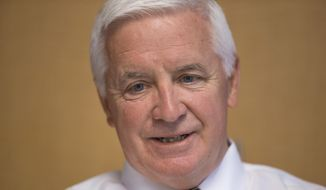 ** FILE ** This  Aug. 20, 2014, file photo shows Pennsylvania Gov. Tom Corbett as he speaks during an interview with The Associated Press in Philadelphia. (AP Photo/Matt Rourke, File)
