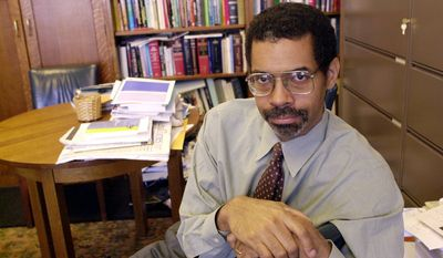 """In his 1998 book """"Civility,"""" author Stephen L. Carter (above, in 2002) called civility those sacrifices we make """"for the sake of ... others, and out of love and respect for the very idea that there are others, (AP Photo/George Ruhe)"""