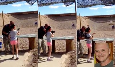 Firearms instructor Charles Vacca, 39, was accidentally shot in the head by a 9-year-old girl learning to fire an Uzi.