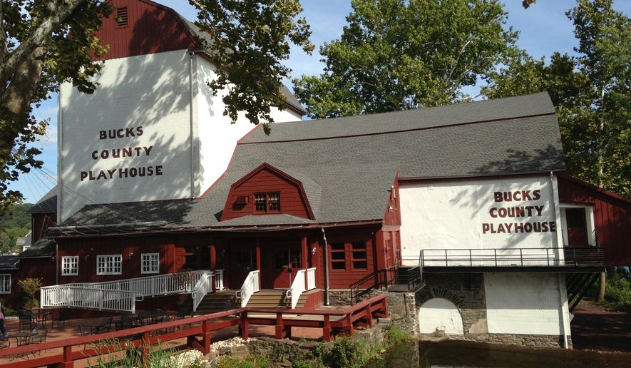This photo provided by Sam Rudy Media Relations shows the Bucks County Playhouse, a 450-seat theater 40 miles north of Philadelphia that opened in 1939. The Playhouse is making a push to nurture lyricists over the next year. (AP Photo/Sam Rudy Media Relations, Alexander Fraser)