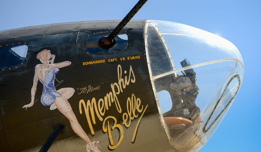 The Movie Memphis Belle was built toward the end of World War II and never saw any combat but was painted in the colors and nose art of the original historic Memphis Belle. It is one of only 13 still flying today.