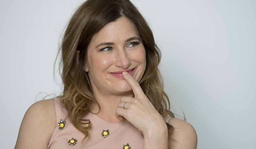 Actress Kathryn Hahn poses for portraits during the 71st edition of the Venice Film Festival in Venice, Italy, Friday, Aug. 29, 2014. (AP Photo/Andrew Medichini)