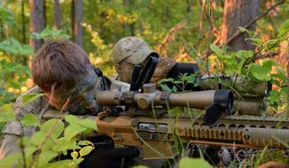 Members of the sniper team from Troop C, 2nd Squadron, 107th Cavalry Regiment train at Fort Knock, Ky. on May 15, 2014. (Image: Face, Ohio National Guard)