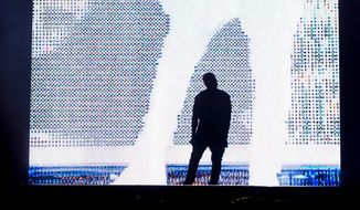 Kanye West performs on day one of the Budweiser Made in America Festival on Saturday, Aug. 30, 2014 in Philadelphia. (Photo by Charles Sykes/Invision/AP)