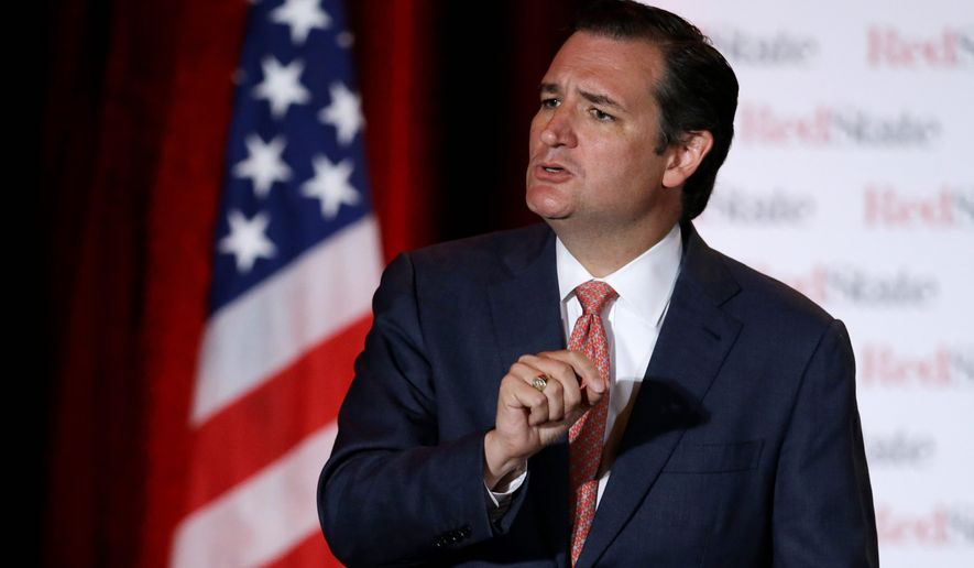 ** FILE ** Sen. Ted Cruz, Texas Republican, said he thinks an American jihadists fighting with Islamic State militants should be exiled from the country, but some conservatives say the militants should be stripped of their U.S. citizenship for joining the extremist group. (Associated Press)