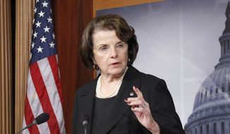"""Dianne Feinstein, California Democrat, said President Obama is perhaps """"too cautious"""" in his approach to combatting the Islamic State group. (AP Photo/Ann Heisenfelt, File)"""