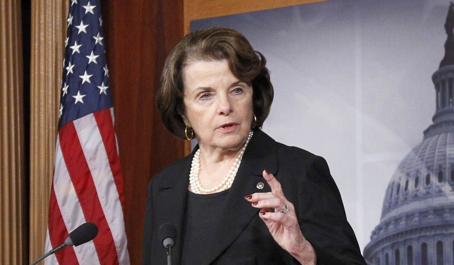 "Dianne Feinstein, California Democrat, said President Obama is perhaps ""too cautious"" in his approach to combatting the Islamic State group. (AP Photo/Ann Heisenfelt, File)"